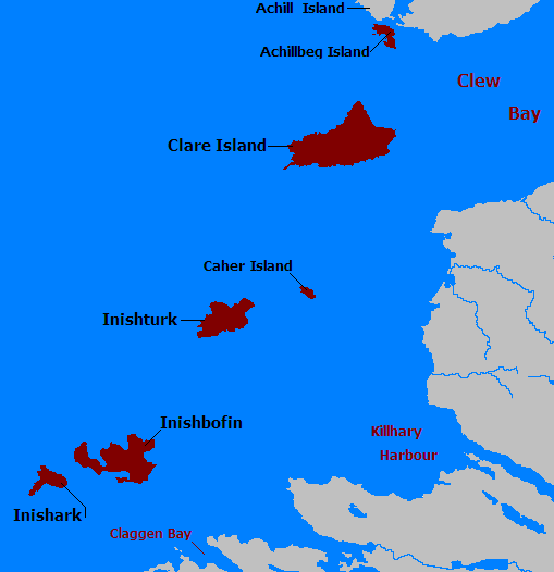 Map Of Ireland Islands.The Joyce Project Ulysses Inish